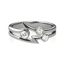 Bernice three stone diamond ring