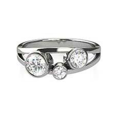 Harper diamond trilogy ring