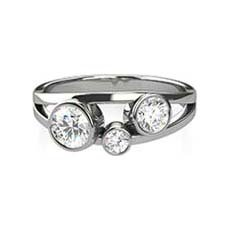 Harper three stone diamond ring