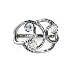 Ava trilogy diamond ring