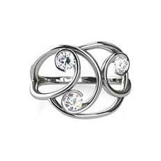 Ava trilogy diamond ring
