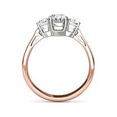 Scarlett rose gold oval engagement ring