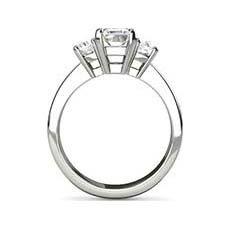 Karina emerald cut platinum engagement ring