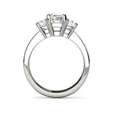 Karina emerald cut diamond ring